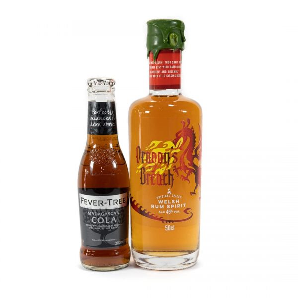 Dragons Breath Welsh Spiced Rum and Fever Tree