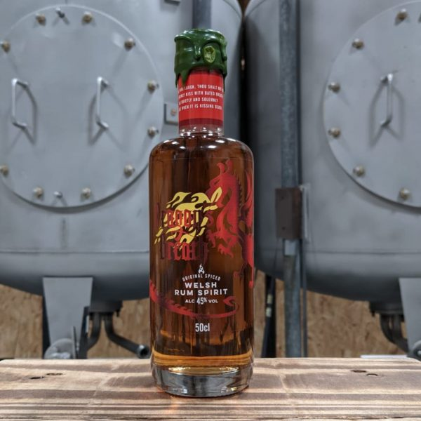 Dragons Breath Welsh Spiced Rum in the Newport Distillery in South Wales