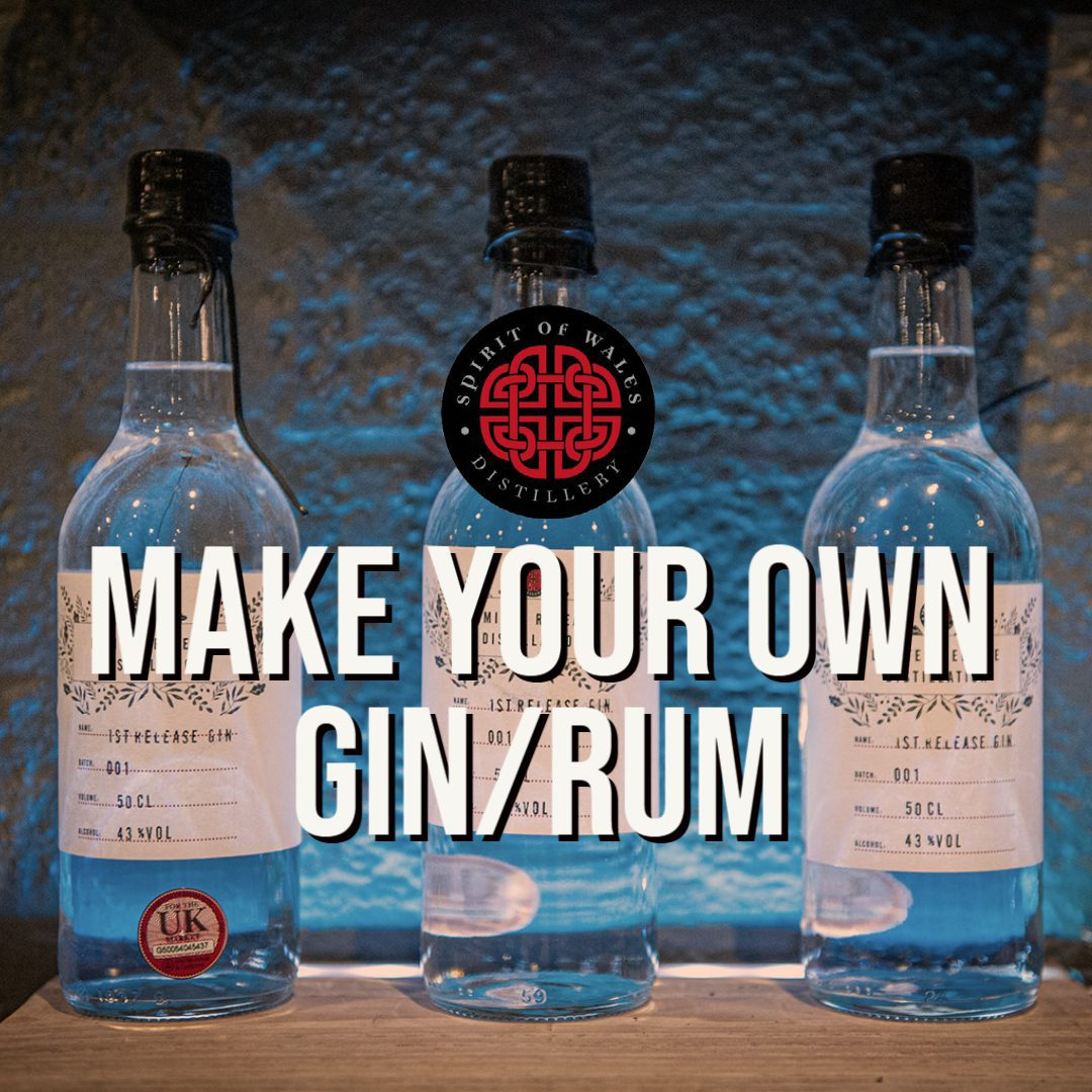 Spirit of Wales Distillery - Make your own gin or rum - in Newport South Wales