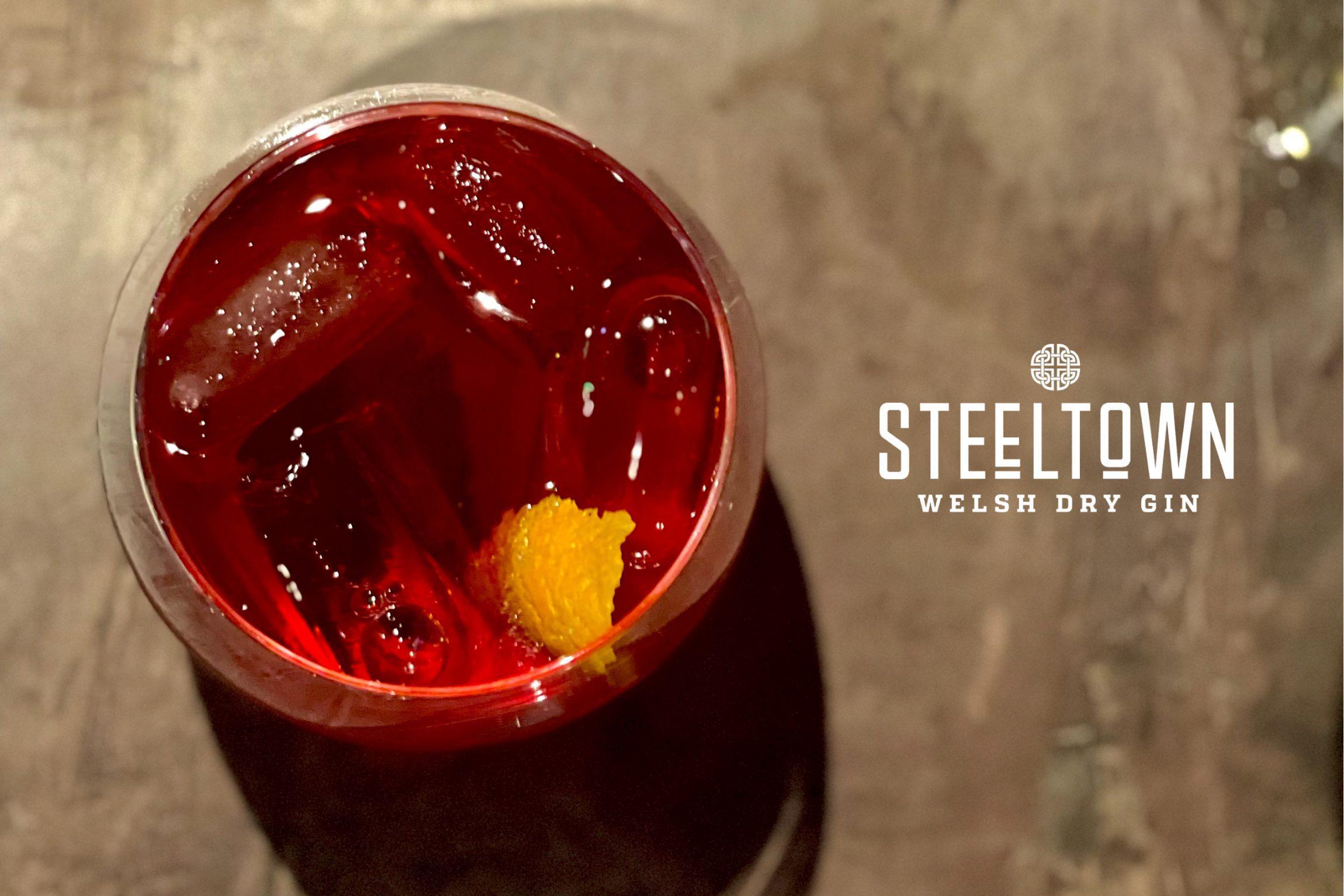 Spirit of Wales Distillery - Steeltown Gin - Welsh Cocktails - Negroni