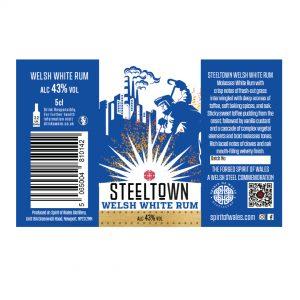 Spirit of Wales Distillery - Steeltown Welsh White Rum 5cl
