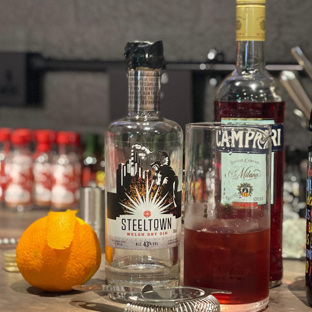 Spirit of Wales Distillery - Welsh Gin Cocktails - Steeltown Negroni - method