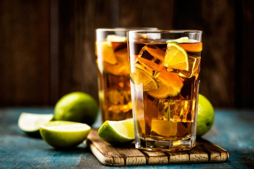 Spirit of Wales Dragon and cola with lime