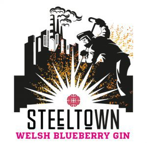 Spirit of Wales - Steeltown Welsh Blueberry Gin - Made in Wales - Newport