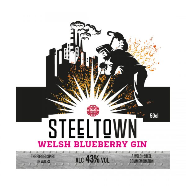 Steeltown Welsh Blueberry Gin (Pre-Orders) - 50cl