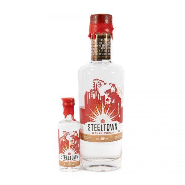 Steeltown Range of Welsh Vodka