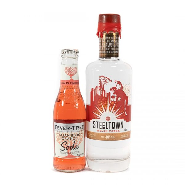 Steeltown Range of Welsh Vodka and Fever Tree Blood Orange soda