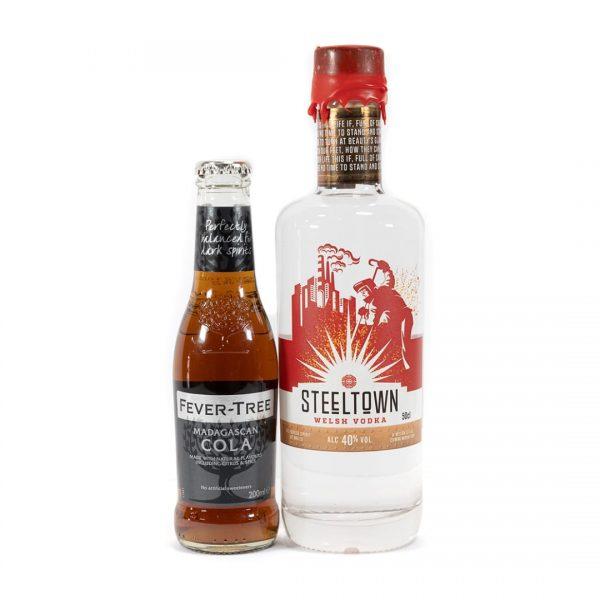 Steeltown Range of Welsh Vodka and Fever Tree Cola