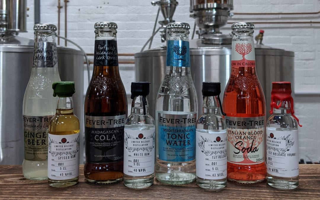 The Spirit of Wales Distillery Virtual Tasting Perfect Pair 5cL Distillery Release Welsh Spirits with Fever Tree Mixers.