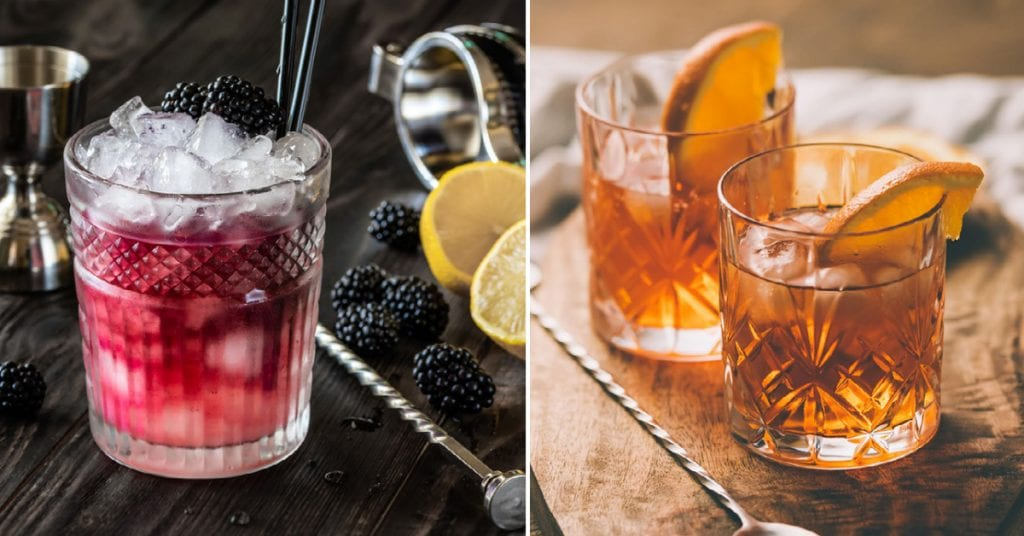 Spirit of Wales Distillery Bramble and Earl Grey Infused gin cocktails