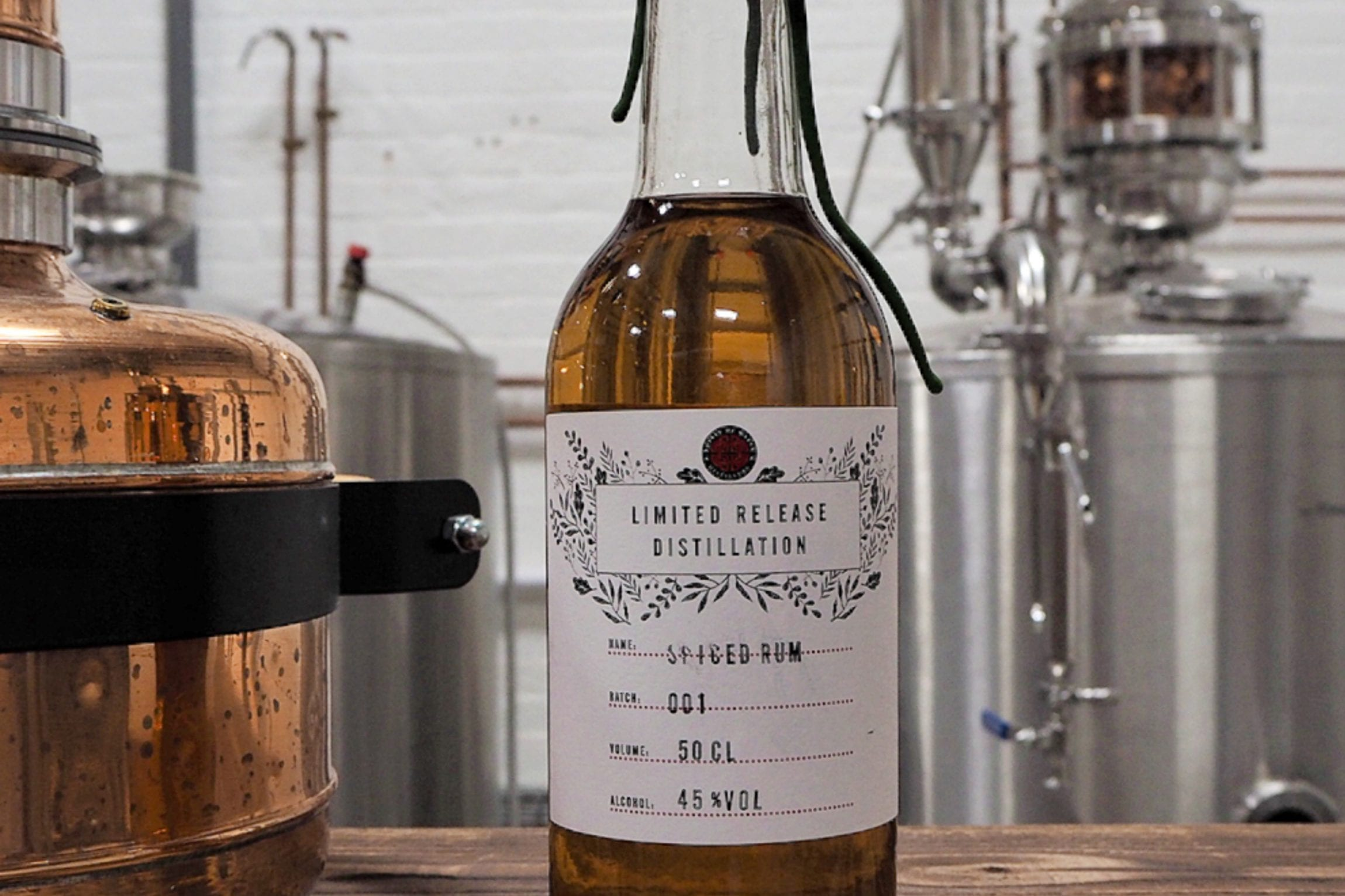Spirit of Wales Distillery Release Welsh Rums in the Newport Distillery. Featured is the lightly spiced rum and white rum 50cL bottles.