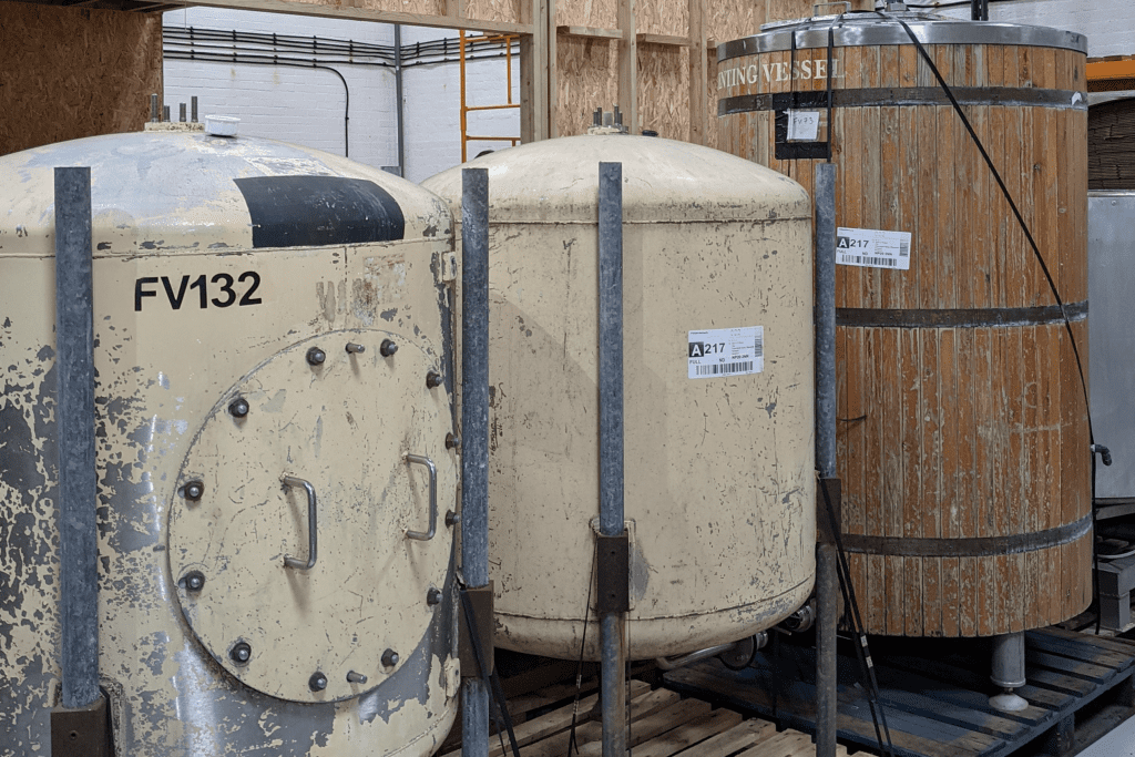 Building our distillery in Newport Wales. Images of fermenters for rum production