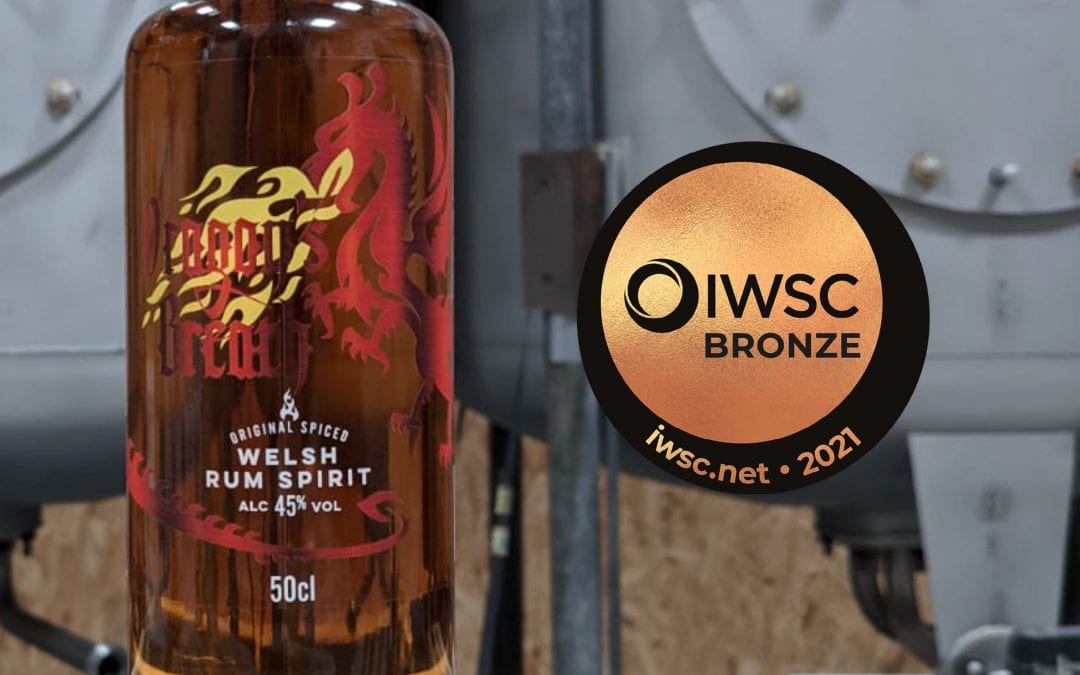 Dragon's Breath Spiced Rum from Wales2021 Bronze Award ICWS Dragon's Breath Welsh Rum