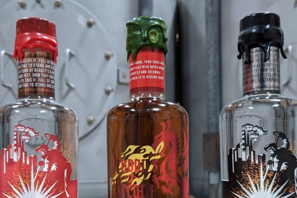 Spirit of Wales signature release Steeltown and Dragon's Breath brands with the words of W. H. Davies