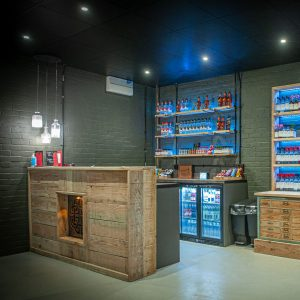 Spirit of Wales Distillery Bar area in Newport South Wales