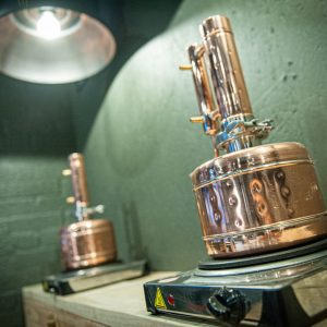Spirit of Wales Distillery Copper Stills in Newport Wales