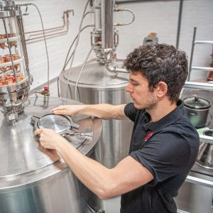 Spirit of Wales distillery Guided tour in Newport South Wales James our production manager