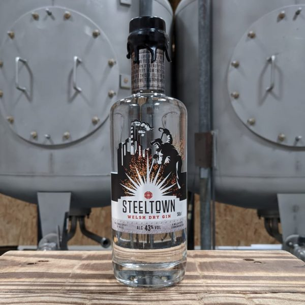 Steeltown Range of Welsh Dry Gin in the Newport Distillery in South Wales