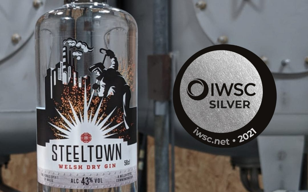 Steeltown Welsh Dry Gin Picks Up Two Silver Medals.
