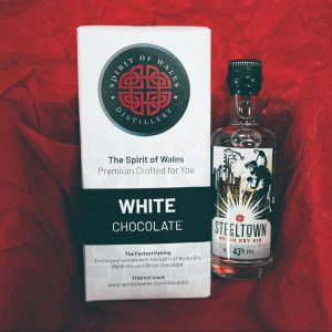 Steeltown Welsh Dry Gin with Spirit of Wales Distillery White Chocolate - The Perfect Pairing