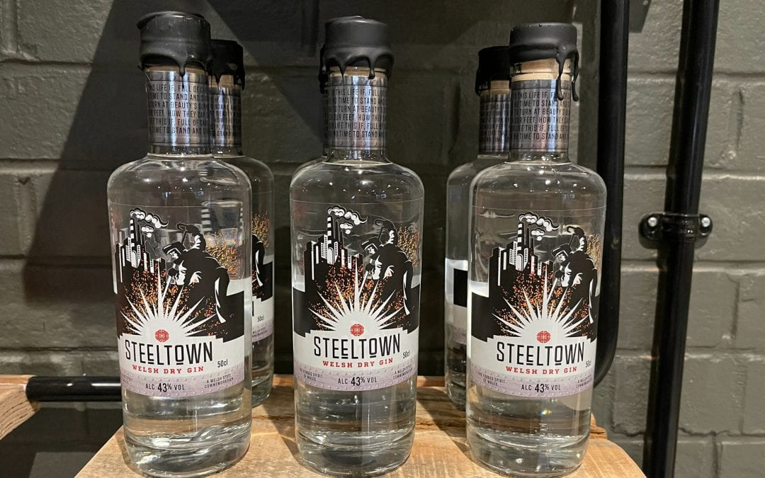 Introducing Steeltown Dry Welsh Gin with 13 Delicate Botanicals.