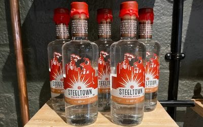 Steeltown Welsh Vodka Filtered Through Anthracite for a Crisp, Clean Flavour.