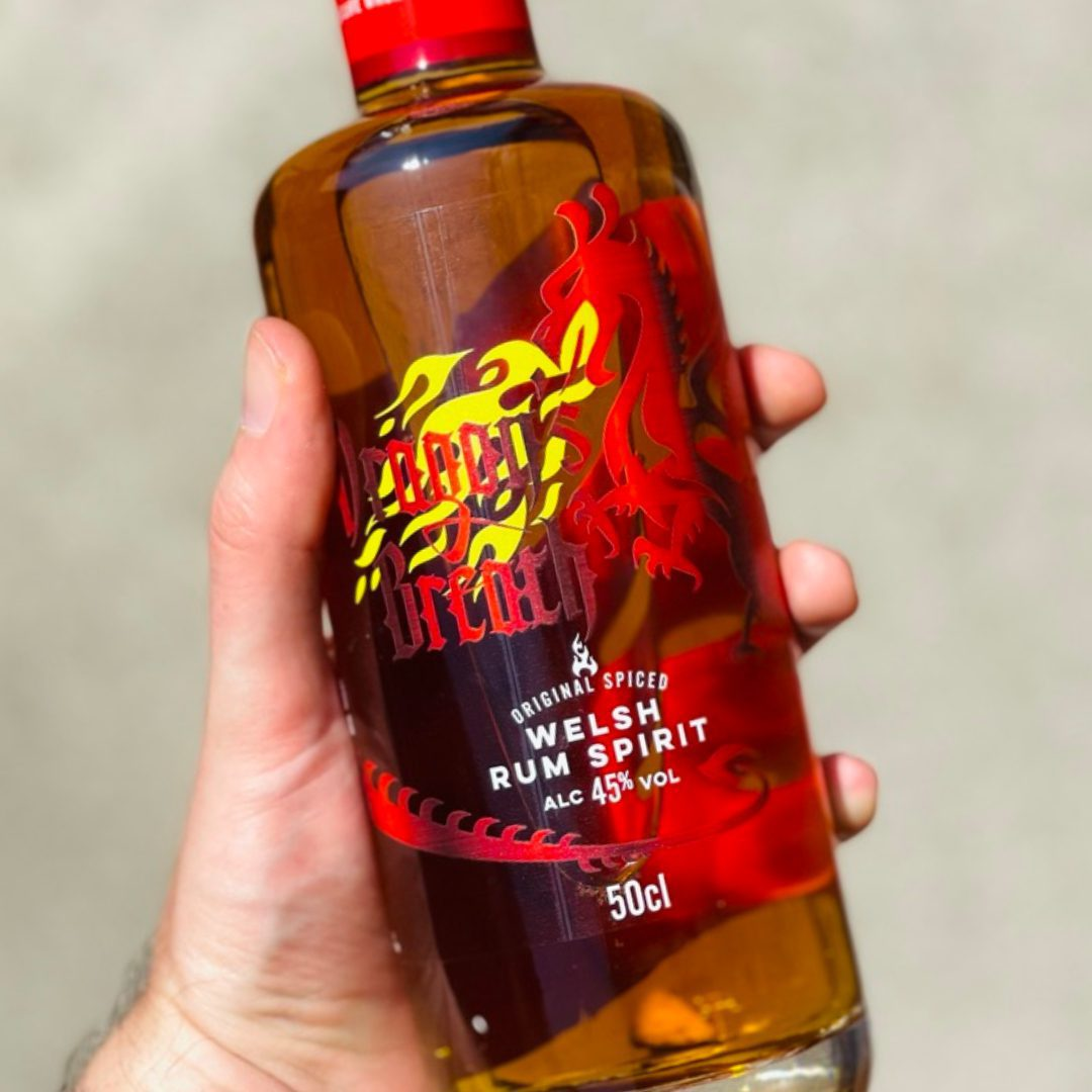 Dragons Breath Spiced Welsh Rum Spirit with bronze award from the IWSC 2021