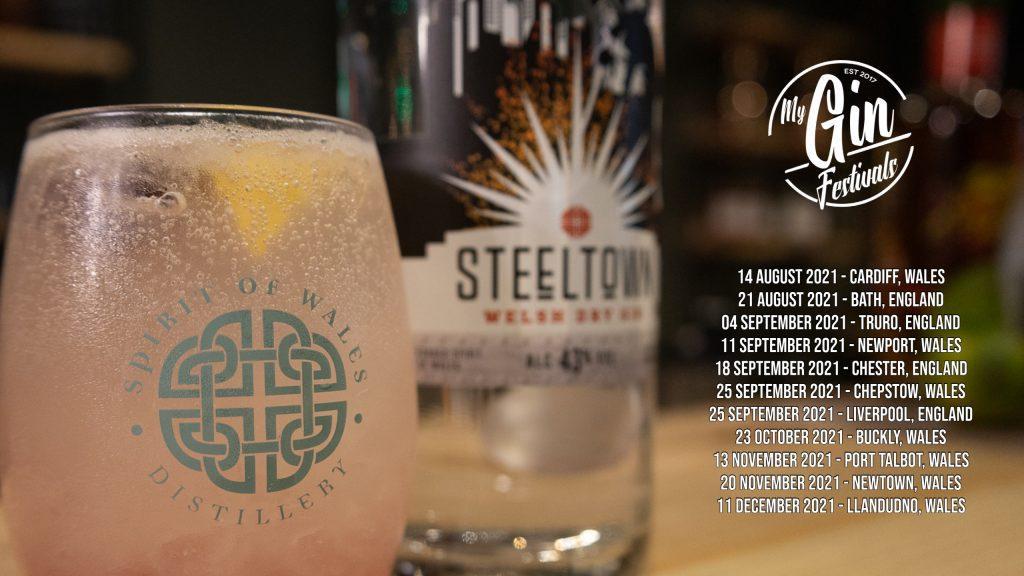 Spirit of Wales Distillery - Steeltown Welsh Gin - My Gin Festivals events