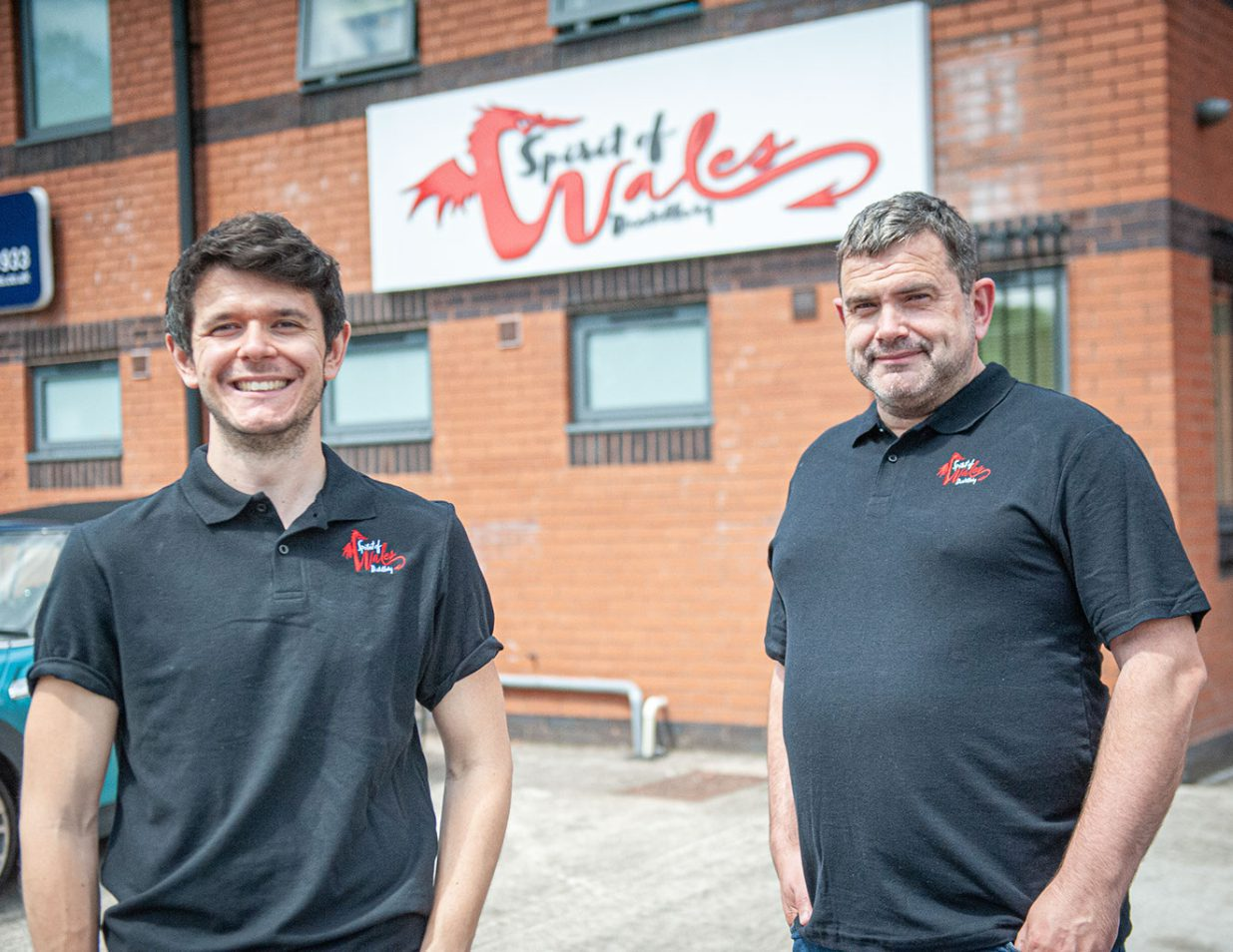 Spirit of Wales Distillery production manager James Gibbons and founder Daniel Dyer