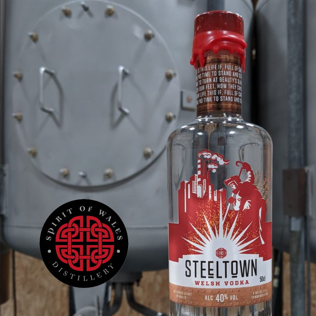 Spirit of Wales distillery Vodka filtered through Anthracite from Carmethshire Ammanford