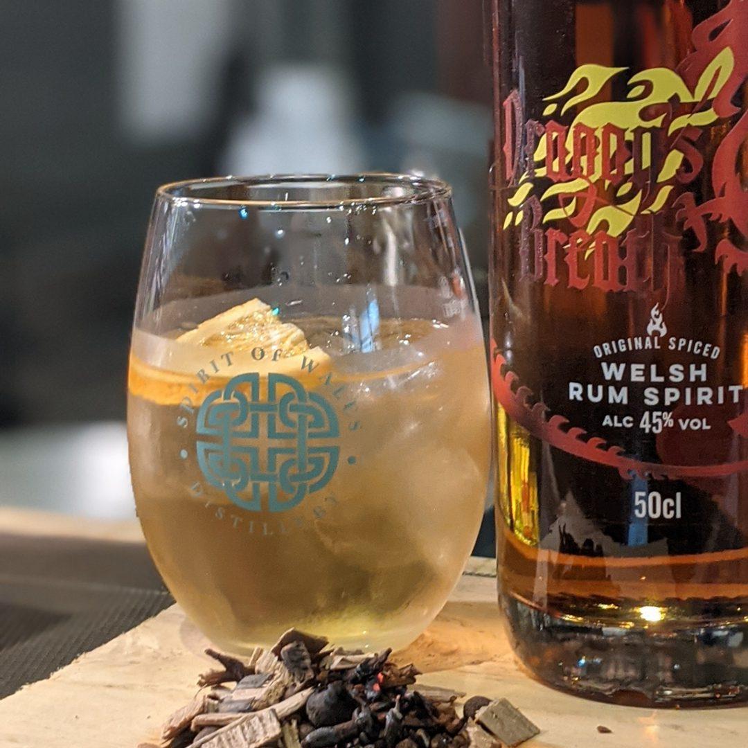 Spirit of Wales distillery - Welsh Cocktails - Anadl Y Draig Old Fashion Cocktail