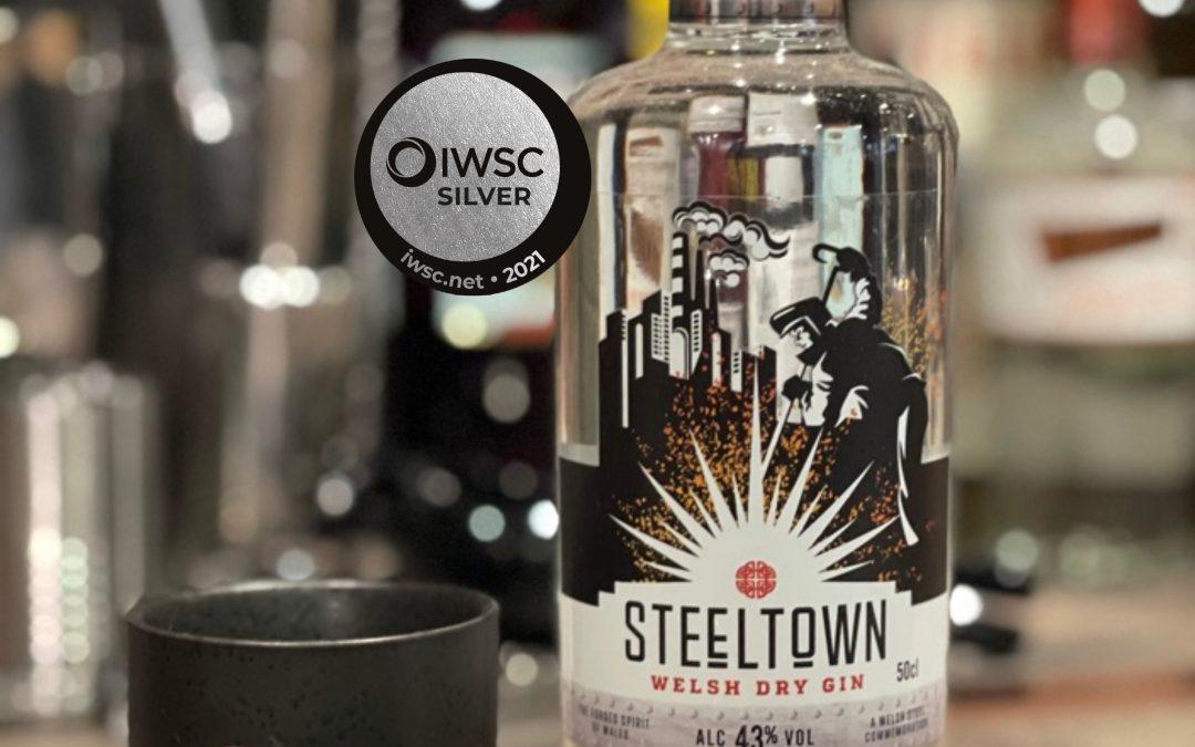 Steeltown Welsh Gin 2021 IWSC Silver 91 Score