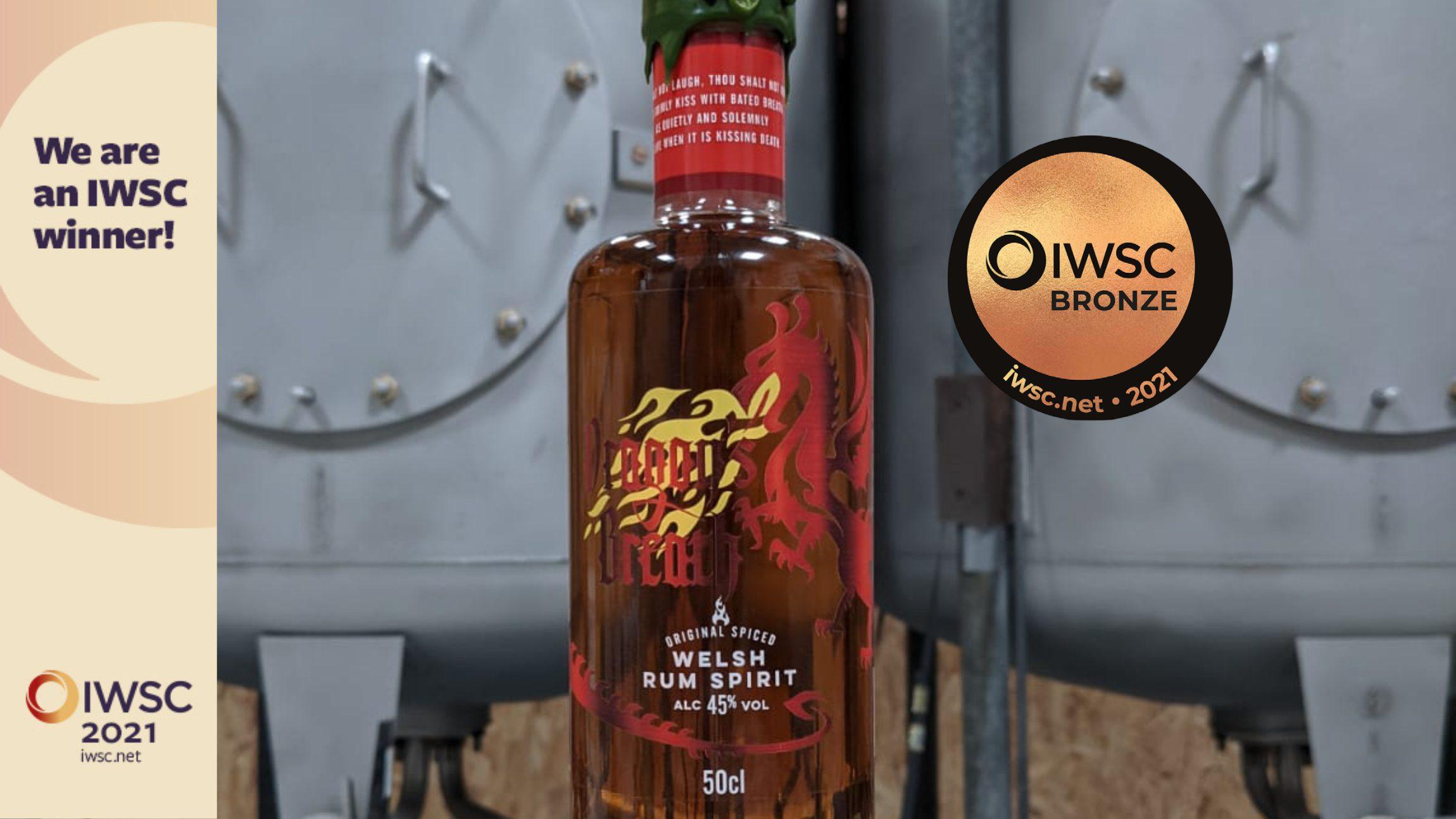 Spirit of Wales Distillery - IWSC - Dragons Breath Spiced Welsh Rum