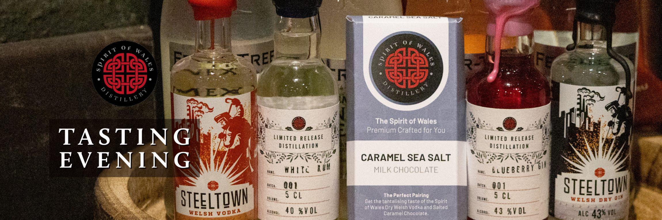 Spirit of Wales Distillery - Live Tasting Evening tasting kit