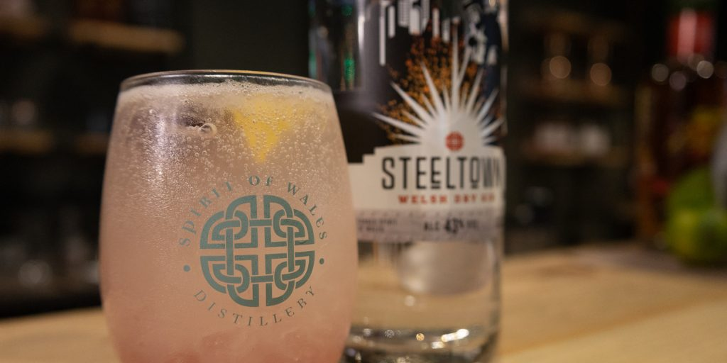 Spirit of Wales Distillery - Tasting Event - Award winning Steeltown Welsh gin one of the tastings at our Virtual tasting events