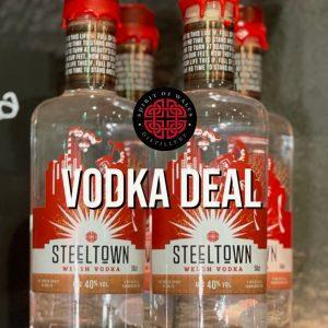 Spirit of Wales Distillery Steeltown Welsh Vodka Deal