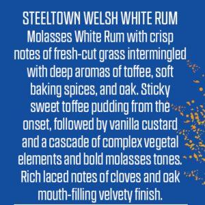 Steeltown Welsh White Rum (Pre-Orders)