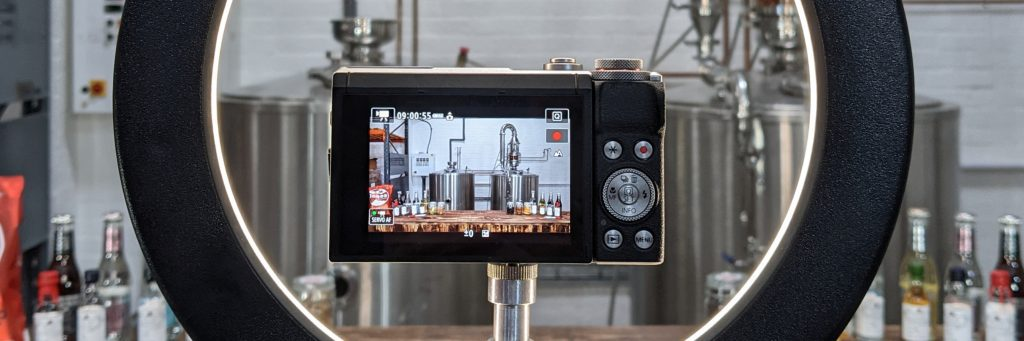 Spirit of Wales Distillery - Live Tasting Evening camera set up