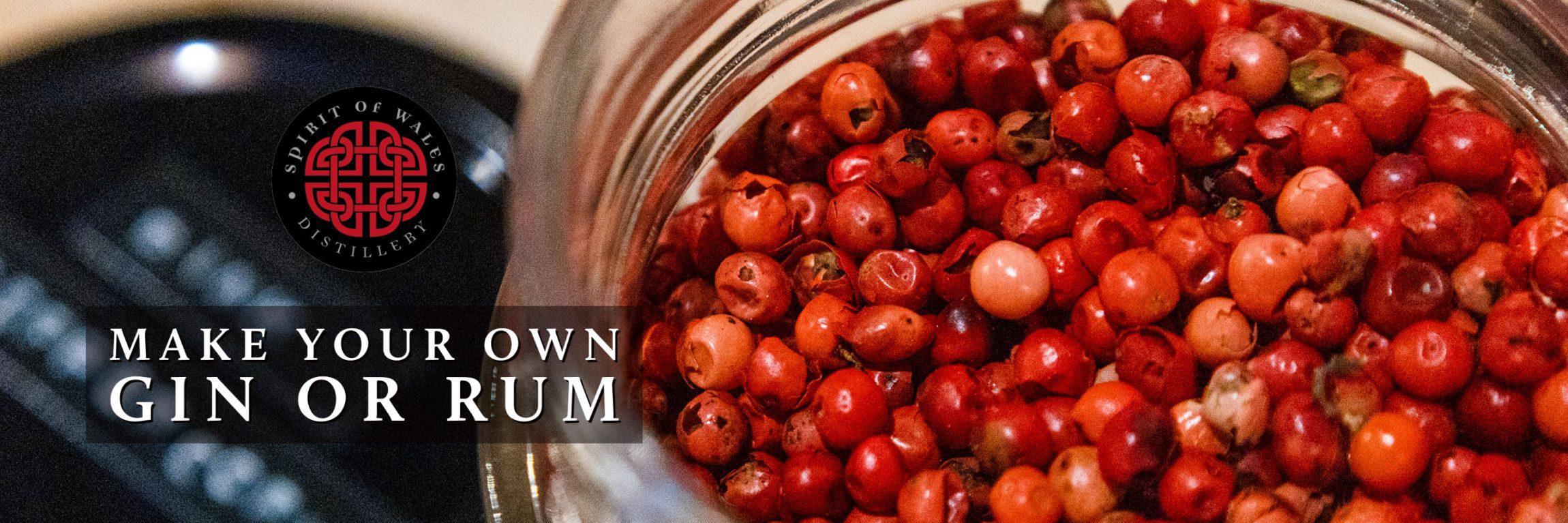 Spirit of Wales Distillery - Make your own gin or rum Botanicals jar