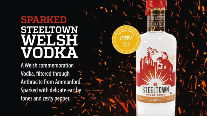 National Vodka Day gold celebration with the Spirit of Wales