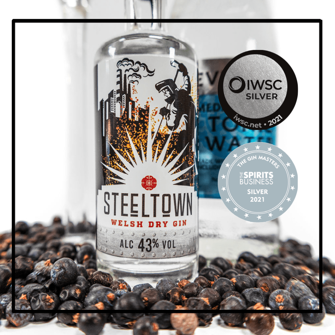 pirit of Wales Distillery - Steeltown Welsh Gin - Gin Masters and IWSC Silver Medals